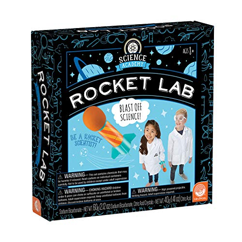 MindWare Science Academy Rocket lab - Kids & Teens Launch Their own Rocket with 4 Rocket Activities with Our 27pc Set - Wild & Weird Experiments for Boys & Girls - Great Educational Gift