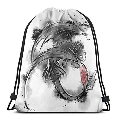 Night Fury Toothl Drawstring Bag Sport Gym Bapas Storage Goodie Cinch Bags