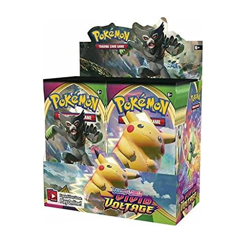 Pokemon Sword and Shield Card Sword and Shield Battle Card Vivid Voltage Booster Box - 36 Packs(360pack/1 Kisten)(englische Kopierkarte)