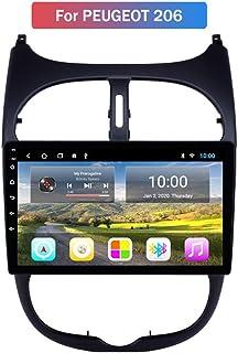 Android Autoradio Radio Dubbel Din Sat Nav voor Peugeot 206 Gps-navigatie 9 Inch Touchscreen Multimediaspeler Video-ontvan...