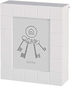 dcasa - Caja de llaves moderna blanca de madera para la entrada Fantasy