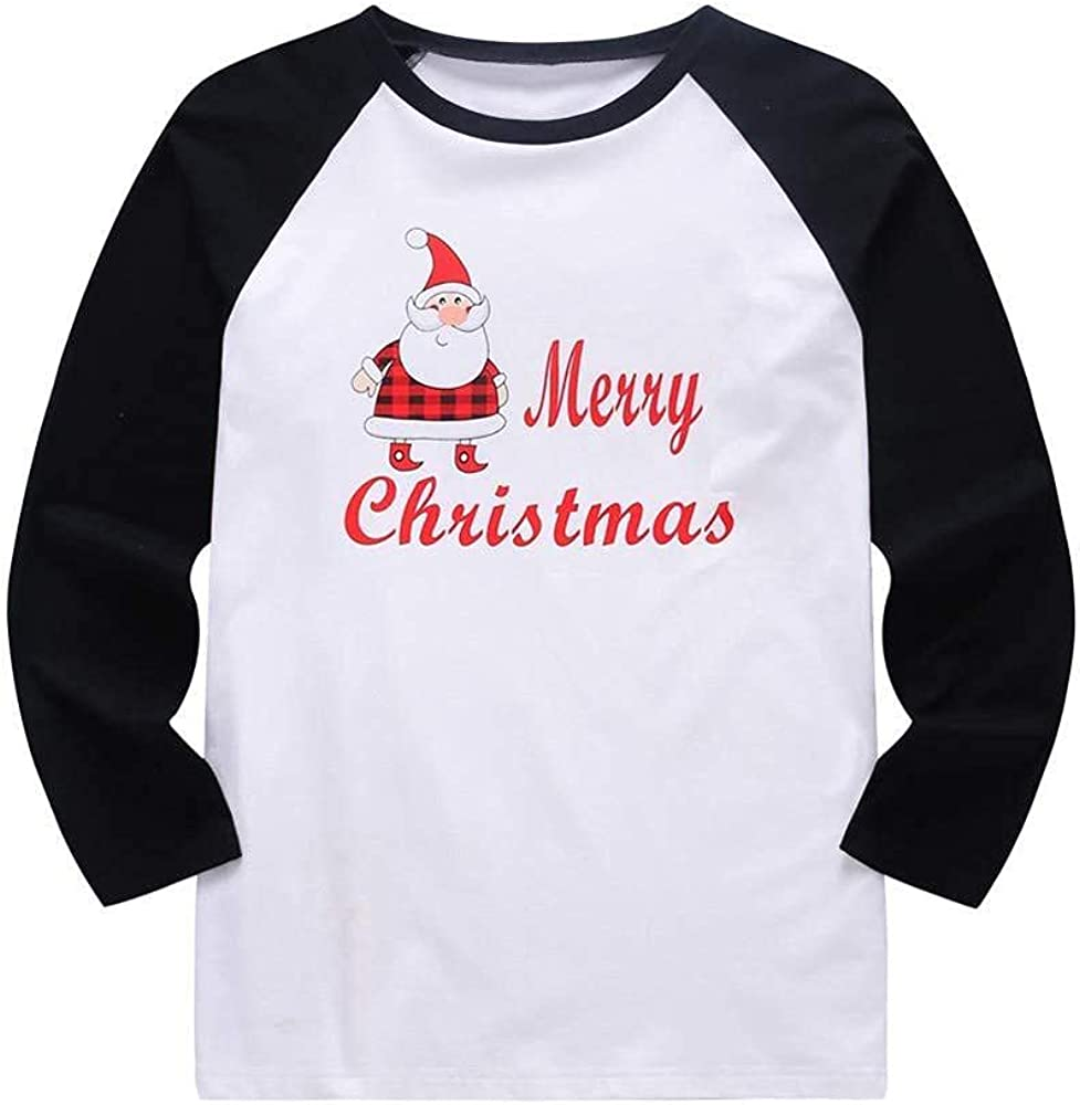 Masbird Christmas Pajamas for Family,Long Sleeve Matching Outfits Tops + Pants Pjs Red Plaid Print Sleepwear Sets