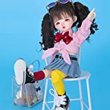 SPLLEADER 1/6 BJD Doll 10.2 inch Ball Jointed Dolls + Full Set Accessories + Shoes + Hair + Clothes Surprise Gift for Child