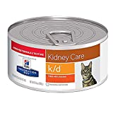 Hill's Prescription Diet k/d Feline Renal Health - Pate with Chicken - 5.5 ounces - 24 cans
