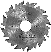 Dewalt DT1306-QZ DT1306-QZ-Hoja de Sierra para ensambladora, Exterior: 102mm, diametro Interior: 22mm, Espesor: 3.9mm, Numero de Dientes: 12, 0 W, 0 V, Multicolor, 102 x 22 x 12 Tooth