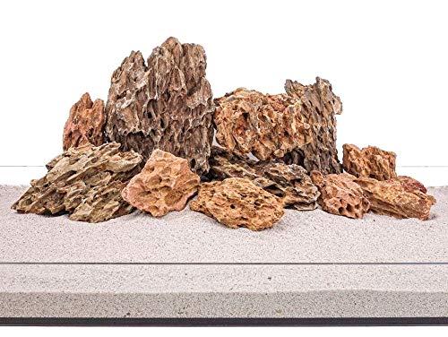 Aquarium Natursteine Drachenstein braun 25 Kg Mix Größe M bis XL Deko Rückwand Pagode Dekoration Aquascaping