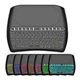 D8 Pro Bluetooth Wireless Handheld Keyboard, 7 Color RGB Backlight Dual Mode Portable Fingerboard 2.4G Touchpad Remote Control, for PC Mobiles Office