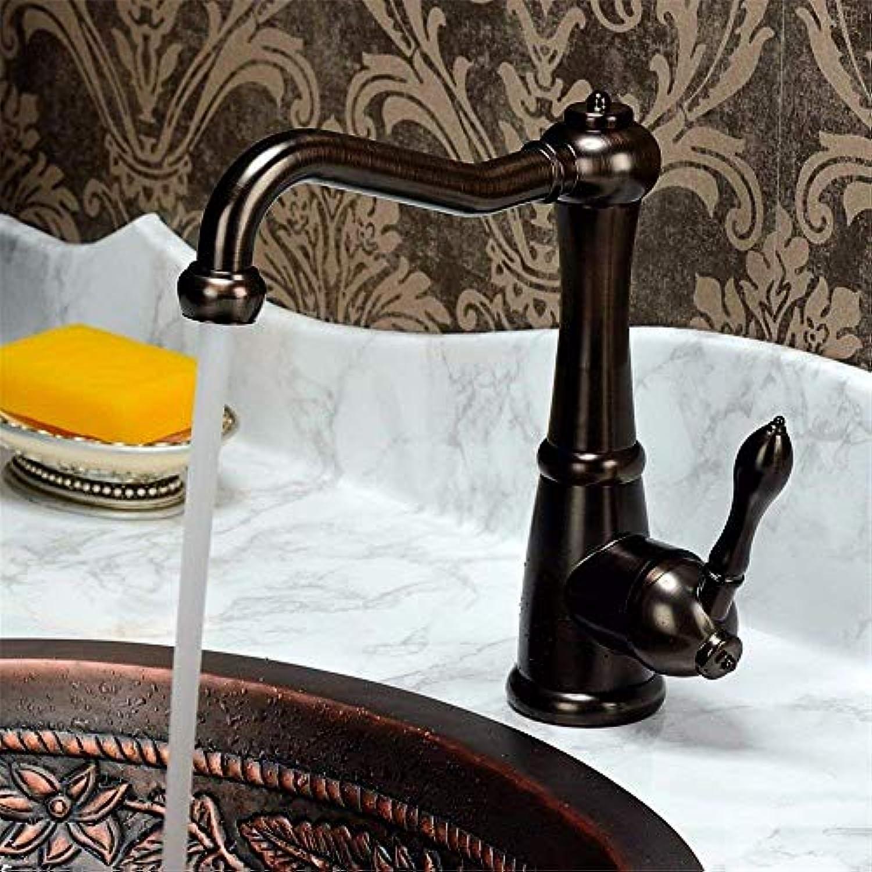 Oudan Küchenmischer hhne antik antik Messing küchenspüle Becken mischbatterie massivem Messing heier und kalter Wasser Kupfer waschbecken Wasserhahn (Farbe   -, Gre   -)