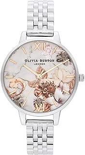 Olivia Burton Marble Florals Silver Bracelet Ladies Watch - OB16CS31