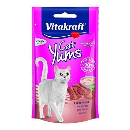 Vitakraft - Smalto per gatti YUMS Plus, 9 x 40 g