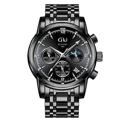 Orologio da uomo, cronografo impermeabile in acciaio inossidabile per uomo, orologio da uomo...