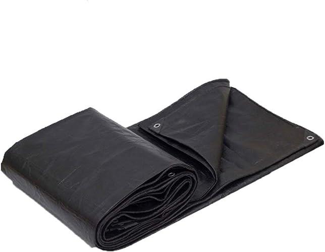 BIXIANGJI bache de Prougeection imperméable à l'eau de Prougeection Solaire de bache de Tente de Tissu de Tente d'extérieur Anti-Corrosion Anti-Corrosion (Couleur   Noir, Taille   3x6M)