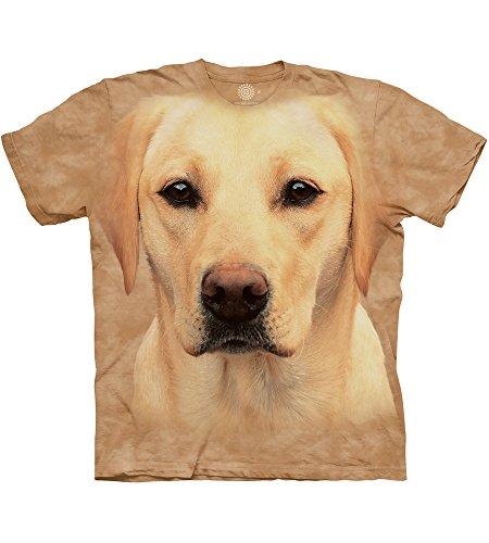 The Mountain T-Shirt Yellow Labrador Portrait Marron Taille L