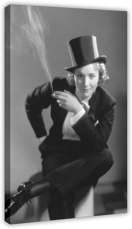 Póster de lona de Actor Marlene Dietrich 45, decoración de dormitorio, paisaje, oficina, decoración de habitación, marco de regalo, 50 x 75 cm