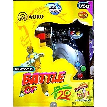DA Enterprise Plastic 108000 in 1 8 Bit 2 Player TV Video Game Remote Console with Inbuilt Repeated Retro Games for Kids, No Batteries Required, Multicolour