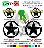 LWEDLW Nuova Generazione 2 Adesivi Fasce Kit Strisce Laterali Omaggio Adesivo Scorpione Fascia Strisce Adesivi Stickers Fiancate Vinile Professionale Strip Decal
