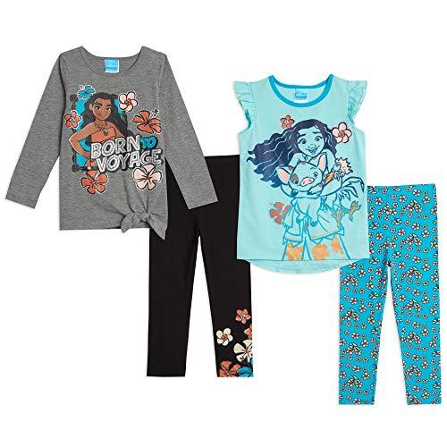 Disney Princess Moana Toddler Girls Tie Knot 4 Piece Legging Set White 3T