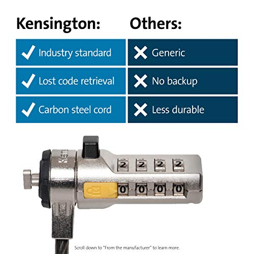 Product Image 5: Kensington Combination Cable Lock for Laptops and Other Devices