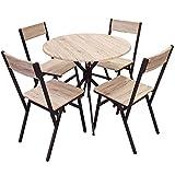 Urban living - Juego de Mesa y 4 sillas de Madera