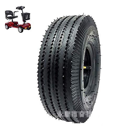 Neumáticos para patinetes eléctricos, neumáticos 4.10/3.50-4 superresistentes al Desgaste, Fuerte Rendimiento Antideslizante y de Drenaje, neumáticos de Doble Uso para Carretera y Todoterreno, fácil