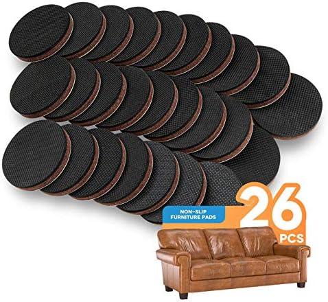 Non Slip Furniture Pads 26Pcs 2 Furniture Grippers Self Adhesive Non Skid Furniture Pads Anti product image