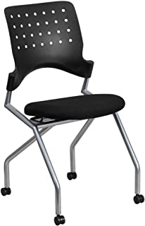 Flash Furniture Galaxy Mobile Nesting Chair with Black Fabric Seat