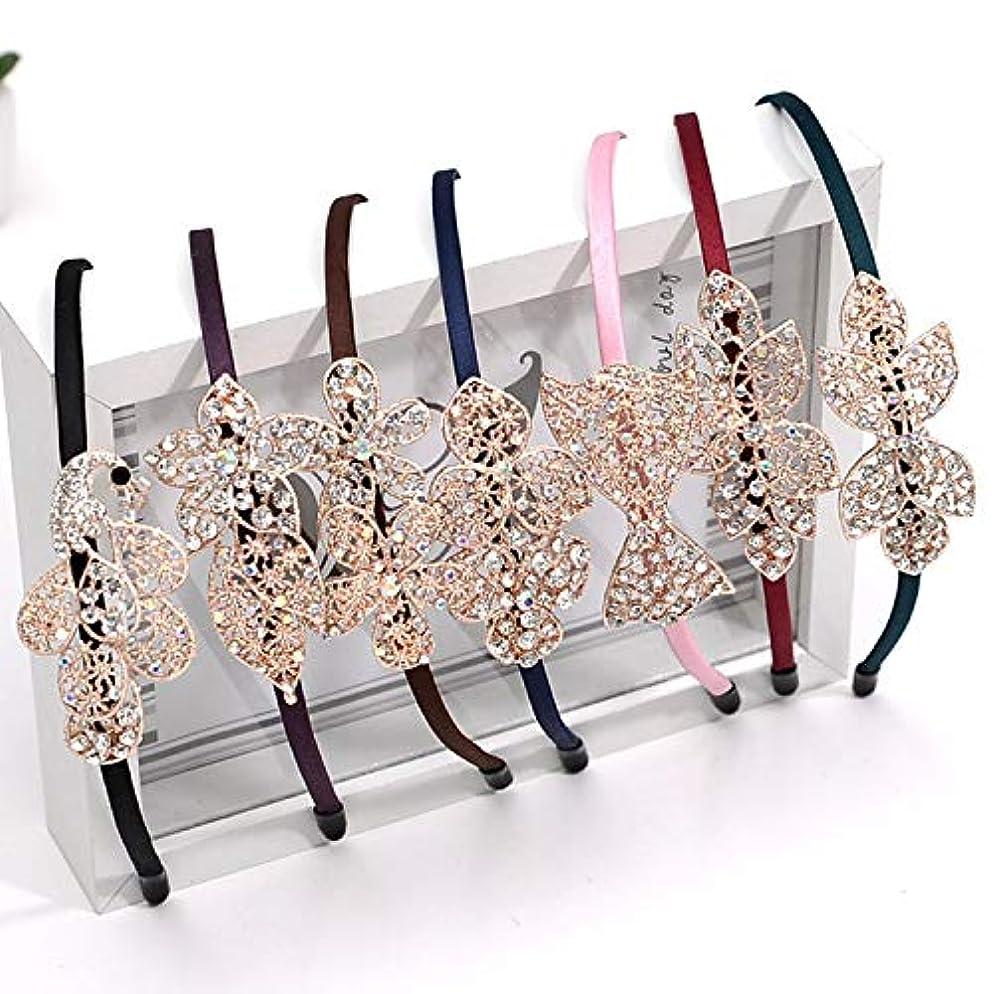 同一の生じる教えGUANG-HOME ダイヤモンドヘアピンの合金ポイントドリルヘッドバンド手作りのヘアアクセサリー韓国語版 (Color : Black)