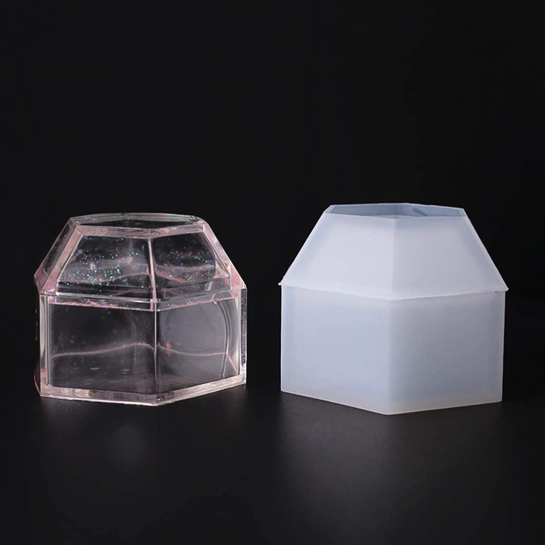 FineInno Box Resin Molds Jewelry Hexagon New products, world's highest quality popular! Silicone Price reduction Mold Stora