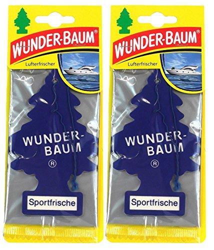 Wunderbaum 2X Sportfrische Orginal Lufterfrischer Duftbaum Fahrzeugduft 1 STK