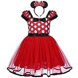 Bebé Niña Vestido de Fiesta Princesa Disfraces Tutú Ballet Lunares Fantasía Vestid Carnaval Bautizo Cumpleaños Baile para Infantiles Recién Nacido Disfraces de Princesa con Diadema 2 Años