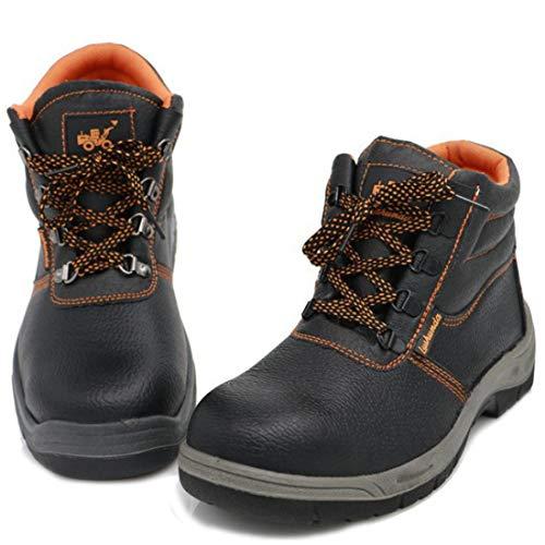 ZOSYNS - Zapatos de Protección Unisex Para Hombre Transpirables Zapatos de Trabajo Para Mujer con Puntera de Acero Suela de Acero Antiperforaciones Transpirables Talla 36-46 Negro Talla 37 EU