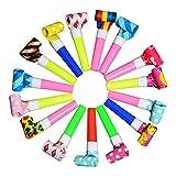 SUPVOX 20pcs Blowouts Noise Maker Whistles Toy Novelty Kids Children Party Favors Supplies...