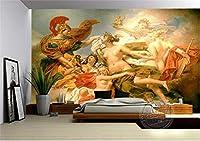 ZCLCHQ 写真の壁紙3D レトロ&天神 壁紙海の景色の壁画リビングルームのソファベッドルームテレビの背景壁紙の壁紙 SIZE:350x250cm