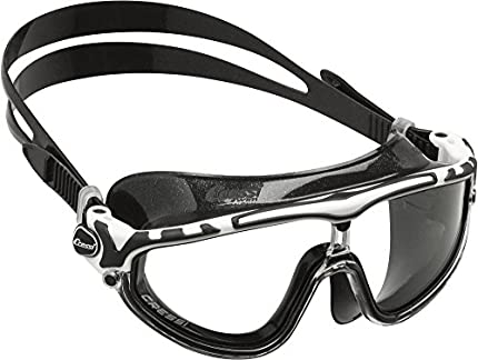 Cressi Skylight Gafas de Natación Anti-vaho, Unisex Adulto, Negro/Blanco/Transparente, Talla única