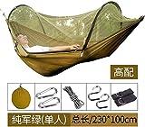 YSCYLY Hamaca Columpio,Silla Colgante 230 * 100 cm con mosquitera, Bolsa de Viaje,Ideal para Acampar, Viajar, Caminar, Dormir.