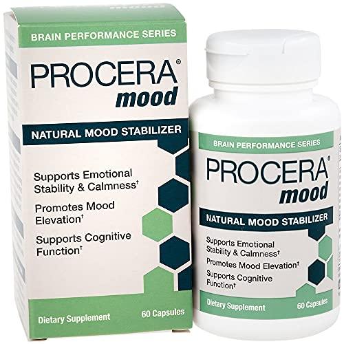 Procera Mood - Stress Relief & Natural Anxiety Pill   Mood Balance Adaptogens & Serotonin Booster   Ashwagandha, Rhodiola, L-Theanine, Stress B-Complex Vitamins, Zinc & Magnesium   60 Capsules