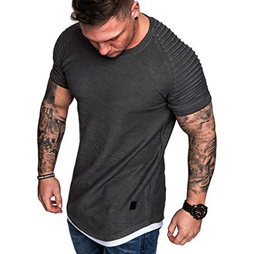 Writtian T-Shirt Oversize Männer Vintage T-Shirt Basic Rundhals Shirt Slim Fit T-Shirt Tank Top Tankshirt Unterhemden Ärmellos Muskelshirt Sport Fitness Baumwolle