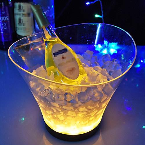 NAY Secchiello per Il Ghiaccio,Colorato Gradiente Ghiaccio Secchio,Secchiello Portaghiaccio Luminoso Trasparente 6L,per Vino E Champagne