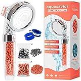 Aquasavior Alcachofa ducha alta presión 200%, teléfono ducha con filtro iónico antical, cabezal ducha baño 35% ahorro agua, mango ducha baño 3 modos