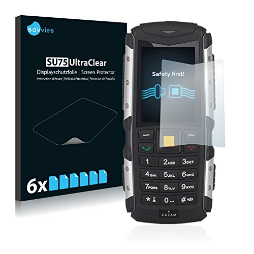 Savvies 6X Schutzfolie kompatibel mit Kazam Life R5 Bildschirmschutz-Folie Ultra-transparent