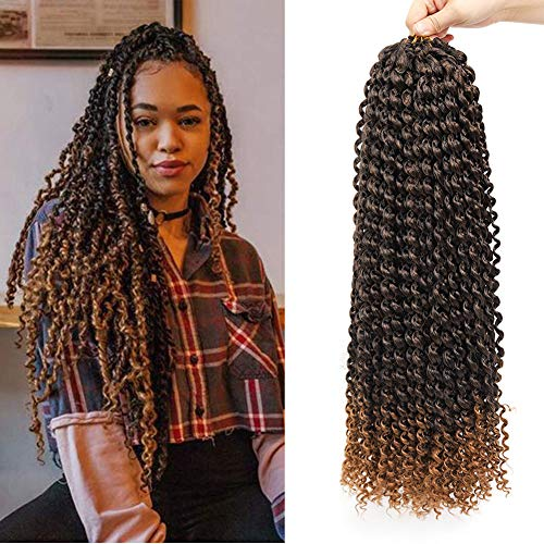 22 Inch 7 Packs Passion Twist Hair Long Inch Crochet Braids Hair Water Wave for Passion Twist Braiding Hair Extensions (T30)