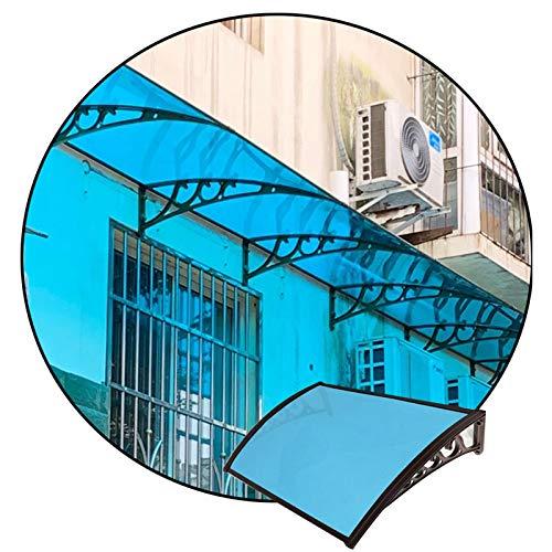 JIANFEI-Valla de jardín MarquesinaPuertaExterior, Cobertizo De Techo con Soporte De Aleación De Aluminio Impermeable para Patio Y Balcón, Refugio Exterior para Lluvia Y Nieve