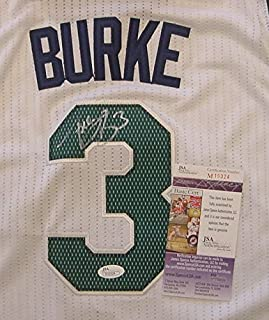 Trey Burke Utah Jazz Autographed White #3 Jersey Size M JSA COA