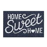 Home Sweet Home Door Mat Outdoor Indoor Welcome Mat Large 24'x36' with Non Slip Rubber Backing Ultra Absorb Mud Easy Clean Front Door Entrance Heavy Duty Doormat