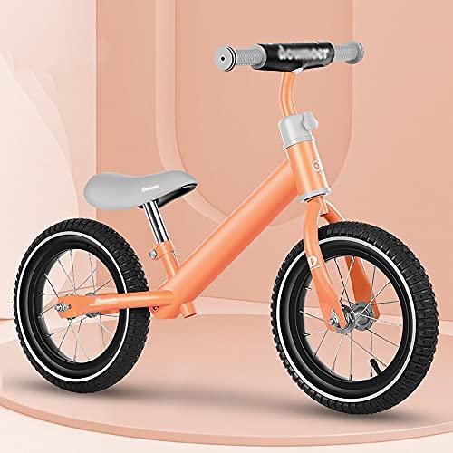NAINAIWANG Bicicleta Equilibrio para niños sin Pedales 2-5 años Entrenamiento Ligera 12 Inch con Asiento Ajustable Empuje pequeños Juguetes para Montar Regalos para Interiores y Exteriores