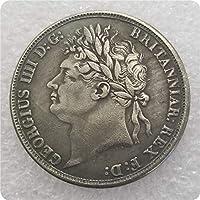絶妙なコインアンティーク工芸品英国1822年記念コインシルバーダラー#1395