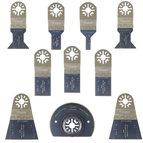 10 x SabreCut PRK10BM Corte de metales para multiherramienta para Bosch Fein (No-StarLock) Makita Milwaukee Parkside Ryobi multiherramienta Worx WorkZone Multi herramienta accesorios