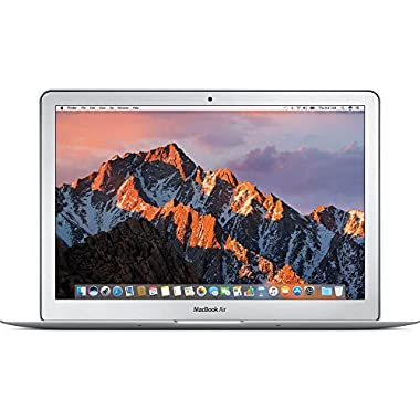 Apple 13  MacBook Air, 1.8GHz Intel Core i5 Dual Core Processor, 8GB RAM, 128GB SSD, Mac OS, Silver, MQD32LL/A (Newest Version)