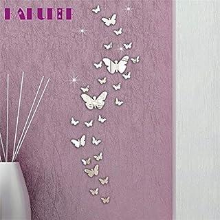 30 pc/Lot combinación de Mariposa 3D Espejo Pegatinas de Pared decoración del hogar
