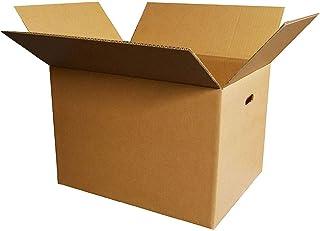 ボックスバンク ダンボール(段ボール箱)120サイズ(取っ手穴付)10枚セット 引越し・配送用 FD05-0010-b